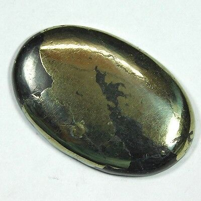 58.8Cts 100% NATURAL A++ PYRITE OVAL 37X25 LOOSE CAB GEMSTONE UL164