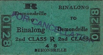 Railway ticket a trip from Binalong to Demondrille by the old NSWGR