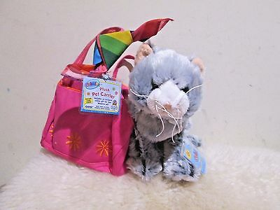 New with Tag - Ganz Webkinz plush pet carrier ( Cat ) ( great gift )