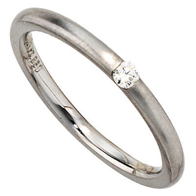 Solitaire Ring Women's ring Diamond 950 Platinum matte Platinum ring plain
