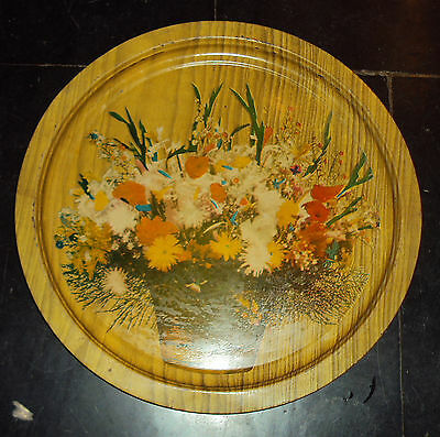 1970 Old Rare Vintage Tin Advertisement Tray With Beautiful Litho #1