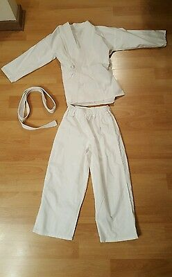 Karate Suit Brand New Martial Arts Uniform White SZ 14-16 CAN BE POSTED
