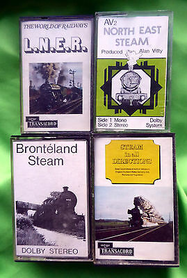 4 Defferent: Steam Train Tape Cassettes In Good Condition - ( Used ).