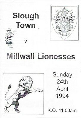 Slough Town Ladies V Millwall Lionesses 93/94.