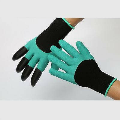 Rubber+Polyester BUILDERS GARDEN WORK LATEX GLOVES + 4 ABS Plastic Claws