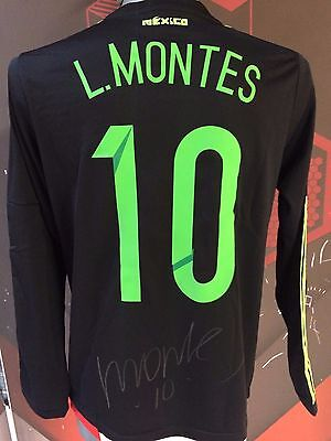 Jersey Mexico Signed by Luis Montes Photo Proof Seleccion Mexicana Liga MX