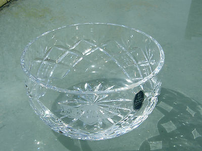 Beautiful Vintage Cut Crystal Royal Doulton Lyons Centenary Bowl *With Label*