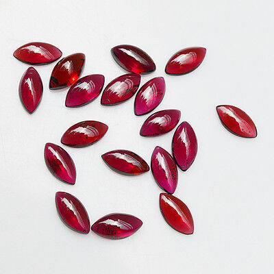 10 Pieces Natural Garnet Cabochon 10x5 mm Marquise Shape Loose Gemstone SM70