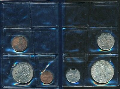 Australia 1966 UNC Set in RAM Style Wallet Contains 1966 Silver 50c coin