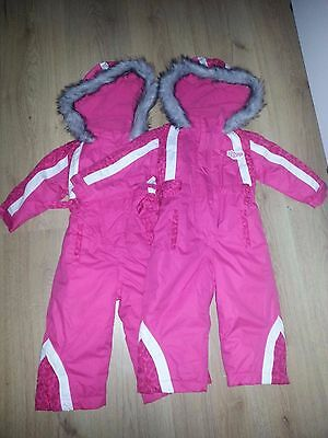 girls snow suits x2 TWINS