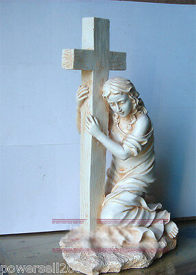 Catholic Church Christian Blessed Virgin Mary Statue Decoration Gift Holy Cross