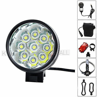 15000Lm 9x CREE XM-L T6 LED Head Bicycle Lamp Bike Light Headlamp