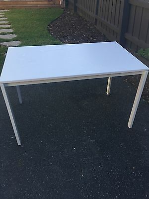 Contemporary Scandinavian White Dining Table 6 Seater Rectangular