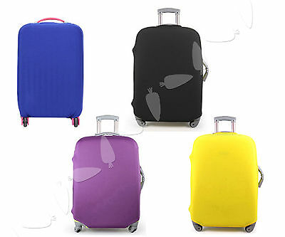 4 Solid Colors Travel Luggage Protector Elastic Suitcase Cover Bags