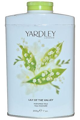 Yardley Lily of the Valley Perfumed Talc Tin 200g -Imperfect Tin-