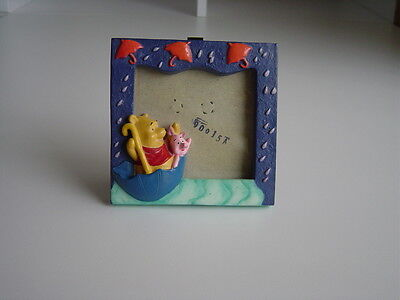 Disney Winnie The Pooh Hand Painted Ceramic Picture Frame - very good condition