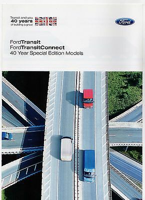 Ford Transit & Connect 40 Year Special Editions 2005 UK Market Sales Brochure