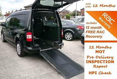 2012 12 Volkswagen Caddy Maxi 1.6 C20 Life Tdi Disabled Wheelchair Accessible