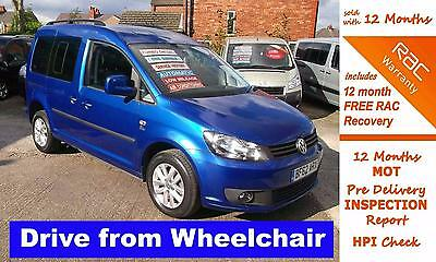 2012 62 Volkswagen Caddy 1.6 C20 Life Tdi 5D Auto Drive From Wheelchair Access