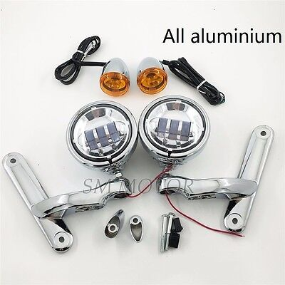 Auxiliary Fog Passing Lights Bracket For harley touring Street Glide Trike 06-13