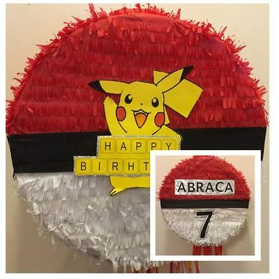 Pokemon Go Pikachu Pinata with Sweets & Stick Any Character Can be Personalised