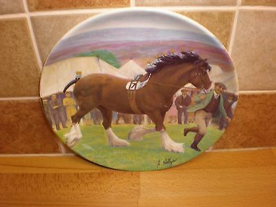 STUNNING Vintage Collectable 1989 BORDER FINE ARTS 'SHOWDAY AT DARROWBY' PLATE