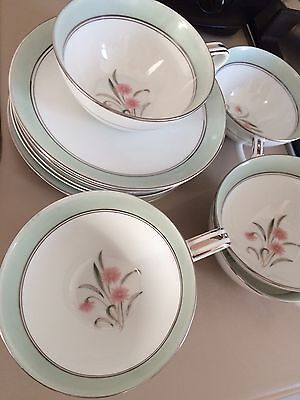 6 Cups and Saucers Vintage Noritake 5557