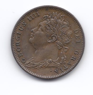 Extremely RARE 1825 OVER 5 Farthing UNC LUSTRE Superb example