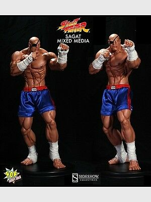 SIDESHOW Pop Culture Shock Street Fighter SAGAT statue 1/4 scale NEW