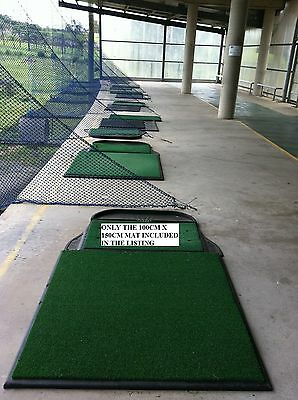 Commercial Quality GOLF DRIVING MAT-Range size 100 x 150cm synthetic grass No.1