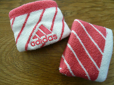 adidas sweatbands wrist pink white ideal for gym fitness