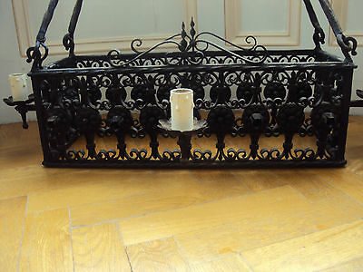 Arts&Crafts Medieval Castle Gothic Wrought Iron Chandelier,black,Harry Potter