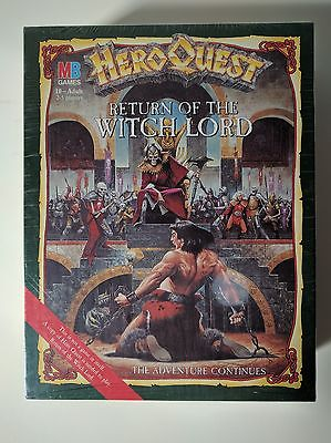New Never Used Still in Plastic HeroQuest Return of the Witch Lord Board Game