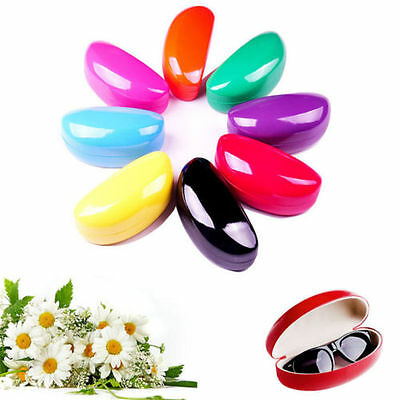 Pure Color Eyewear Eye Glasses Sunglasses Hard Case Protector Box Holder Clam