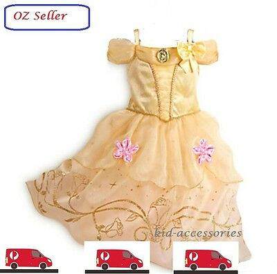 princess Belle beauty & the Beast kid girl birthday party dress costume 2 - 9 Y