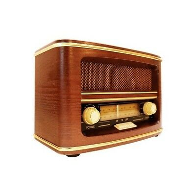 GPO Winchester Vintage 1950s Retro Style MW/FM Radio with Wooden Finish