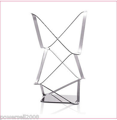 New European Decoration Stainless Steel 2 Bottles Wine Rack Holder Storage &$