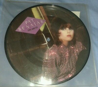 """Pat Benatar Fire And Ice 7"""" Pic Disc B/w Hard To Believe Uk Chsp 2529"""