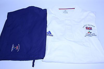 Authentic Team GB Adidas Paralympic Games Kit Athens 2004 T-shirt & Shorts B4