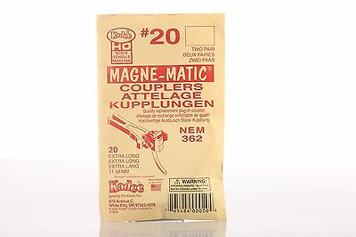 Kadee magne matic couplers NEM362 #20 pack of 3 pairs (6 couplings)