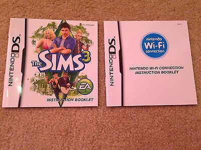 Mint - The Sims 3 - Nintendo DS - Manual Only (no Game)