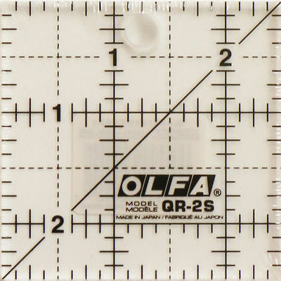OLFA Non Slip: 2.5 INCH x 2.5 INCH SQUARE TEMPLATE RULER  PATCHWORK BRAND NEW