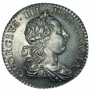 George III Silver Shilling 1763 Northumberland  S3742 About UNC
