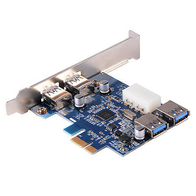 2 Ports PCI-E to Interface USB 3.0 Expansion Card PCI-Express Card Adapter AC582