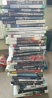 ps2/ps3/xbox 360 and pc games joblot