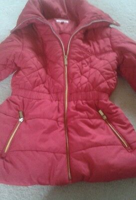 "Red ""blue zoo"" girls coat age 9"