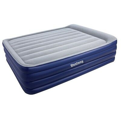 Bestway Queen Inflatable Air Mattress Bed Built-in Electric Air Pump Blue