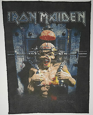 "Vintage Iron Maiden ""The X-Factor"" Original Back Patch Rückenaufnäher NWOBHM 666"