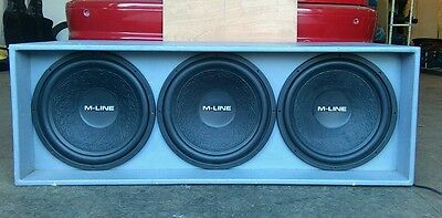 Car subwoofers X 3 Gladen audio 15 inches 400rms SVC subs with box.