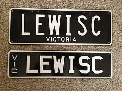 Vic victorian numberplates LEWISC LEWIS C number plates rego